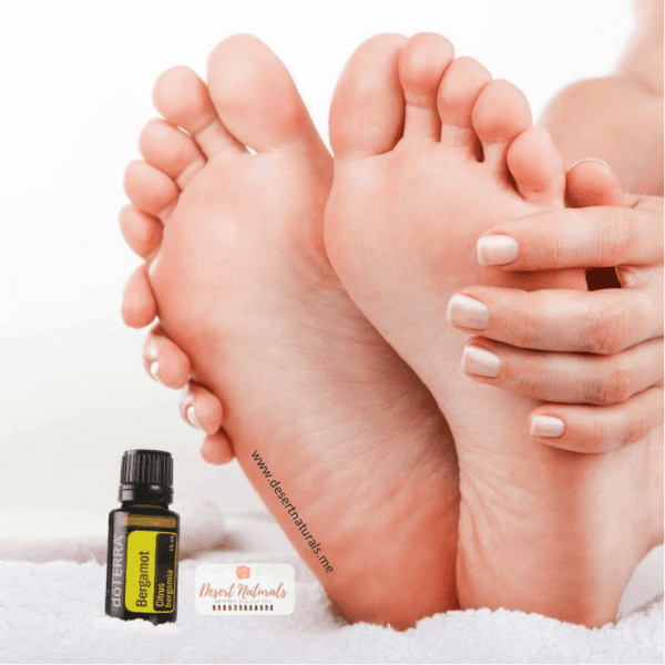 Get your feet looking their best this summer with this moisturizing foot mask with Bergamot essential oil