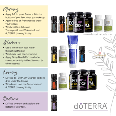 Daily routine to take your all natural supplements from doTERRA essential oils healthy habits kit